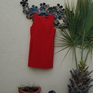 BRIGHT RED TAHARI ARTHUR S LEVINE 14 LINED DRESS